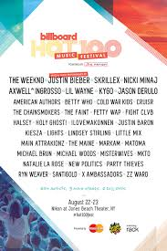 Top 100 Music Chart 2015 Billboard Hot 100 Fest Get Tickets To See Justin Bieber
