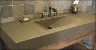 how to clean marble countertops in bathrooms modern bathroom polished concrete sink