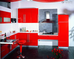 White And Red Kitchen Red Kitchen Cabinets Ideas Island Kitchen Idea
