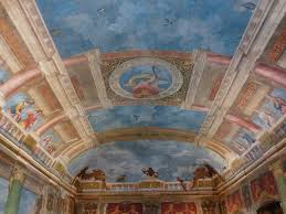 the blue room hall blanket ceiling painting