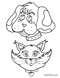 Dog And Cat Coloring Pages Getcoloringpages Com Dogs Coloring Pages