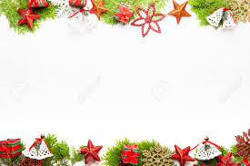 Top View Of Christmas Background Template With Decorations Of