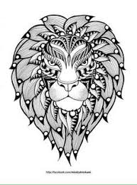 Small Picture Free coloring page coloring adult lion head Colouring pages