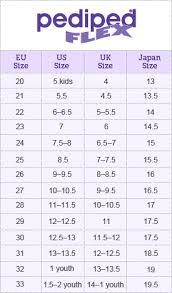 Pediped Size Chart Pediped Size Chart