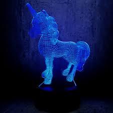 Unicorn 3d Led Lamp Night Light Multicolor Rgb Bulb Christmas