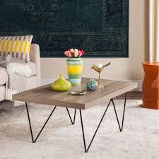 Coffee Table Light Gray Safavieh Safavieh Amos Retro Mid Century Wood Light Gray Coffee Table