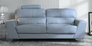 esteban 3 seater half leather sofa