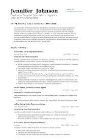 Customer Care Representative Resume Samples Visualcv Resume