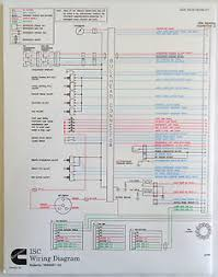 cummins laminated isc foldout wiring diagram image is loading cummins laminated isc foldout wiring diagram