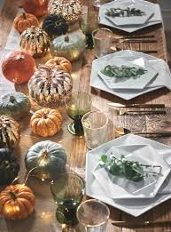 Glass Pumpkins Decor With Micro Lights The Autumn Edit In 2020 Autumn Table Pumpkin Lights Fall