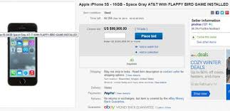 Shop new & used iphones at ebay.com, including the iphone 11 & iphone xs. Used Iphone 5s With Flappy Bird Installed Going For 100 000 On Ebay Technology News