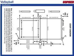 game rules  amp  court specifications   gopher sportclick to open or save full size volleyball court specifications  download diagram