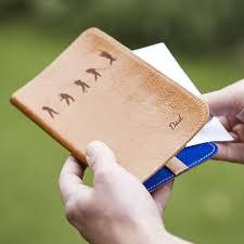 personalised leather golf scorecard holder