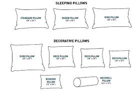Pillow Cover Size Chart