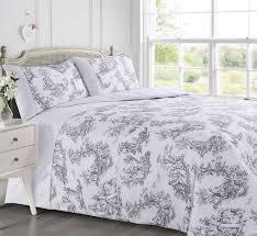 grey white stylish toile french fl design waffle bedding luxury duvet cover 12833 1 p jpg