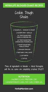 herbalife cookie dough shake recipe herba member