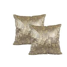 "Buy <b>Cushion</b> Cover Velvet Gold <b>FOIL</b> Print <b>2 PCS</b> Set 16"" X 16 ..."
