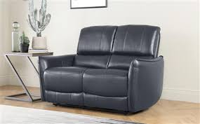 leather sofa chair. Newington Grey Leather Recliner Sofa - 2 Seater Chair