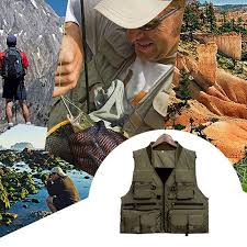 Outdoor Fishing <b>Vest Quick Dry</b> Fishing <b>Vest</b> Polyester Fiber ...