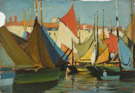 la roce fishing boats in the harbour off the quai des dames