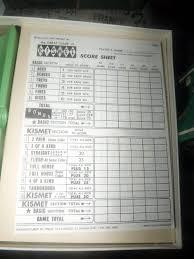 kismet game sheets vintage c 1964 kismet dice yacht game published in canada