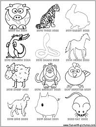 Free Chinese Zodiac Coloring Pages Download Free Clip Art