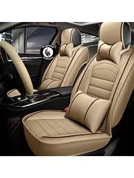 Honda Amaze Seat Cover Designs Pegasuspremium Pu Leather Car Seat Cover For Honda Amaze Beige Red