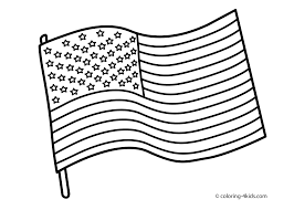 Full Page American Flag Printable American Flag Coloring Page