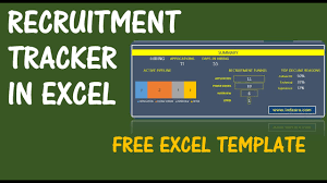 Excel Temp Service Recruitment Tracker Spreadsheet Free Hr Excel Template V1