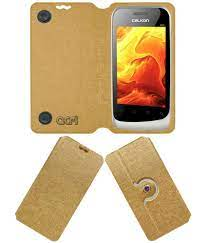 Celkon A85 Flip Cover by ACM - Golden ...