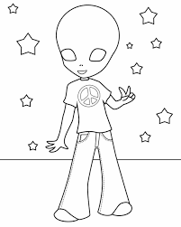 Small Picture All Ages Free Printable Free Alien Coloring Pages Printable Alien