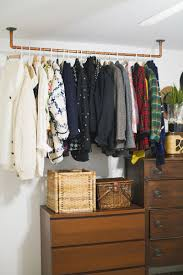 ... Copper Pipe Garment Hanging Clothes Rack Organizer Ideas: Charming  Hanging Clothes Rack For ...