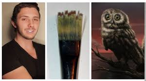 how to cut your brush to paint multiple strokes for grass fur or hair you