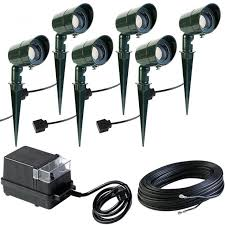 um image for low voltage outdoor lighting kits landscape bronze led light kit 8 pack