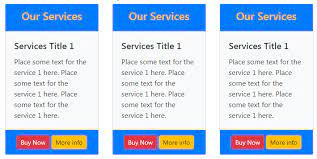 6 templates of bootstrap 4 cards with