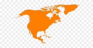 Montessori North America Continent Map Outline Clip North America