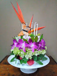 Tropical Birthday Cake With Pedestal And Box In Melbourne Fl
