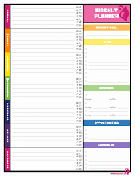 Printable New Weekly Calendar Blank Weekly Calendars Printable ...