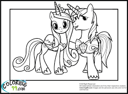 Small Picture Princess Cadence Coloring Pages Fabulous My Little Pony And