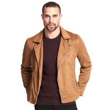 Designer Suede Jacket Designer Brand Asymmetrical Faux Suede Jacket