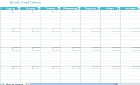 Chart Template Excel Calendar Monthly Printable Downloadable 2010