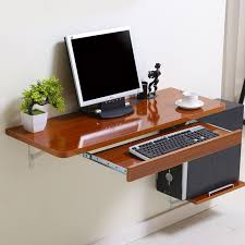 Best 25 Wall Mounted Computer Desk Ideas On Pinterest Folding Pertaining To Wall  Mounted Computer Desk Decorating ...