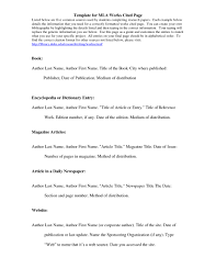 006 Examples Of Researchs In Mla Format Example An Annotated