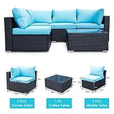 viewee 5 piece patio furniture set pe