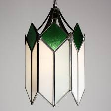marvelous art deco pendant light with original stained glass nc1438 rw for