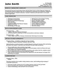 Medical Laboratory Assistant Resume