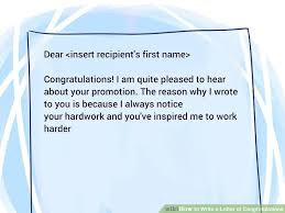 Congratulations Letter Templates 3 Ways To Write A Letter Of Congratulations Wikihow
