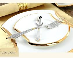 Amazing Gold Cutlery Set Luxury Flatware Sets Stainless Steel Table Knife Fork  Spoon Dining Dinner Dinnerware Modern . Luxury Dinnerware Set ...