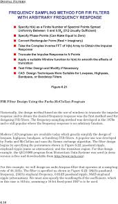 Frequency Sampling Method Fir Filter Design Section 6 Digital Filters Pdf Free Download