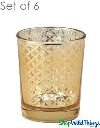 mercury glass candle holders kylie small set of 6 2 1 2 tall gold lattice